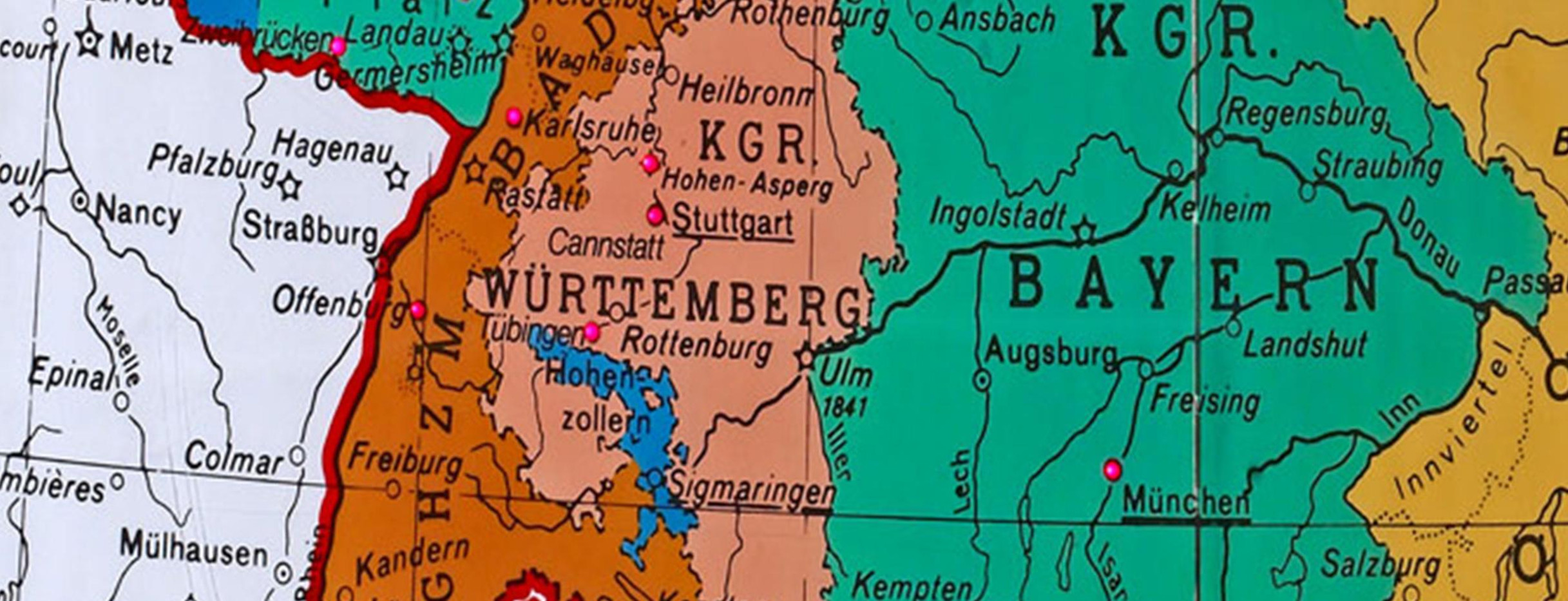 Map Of Germany Throughout History.State History Baden Wurttemberg De