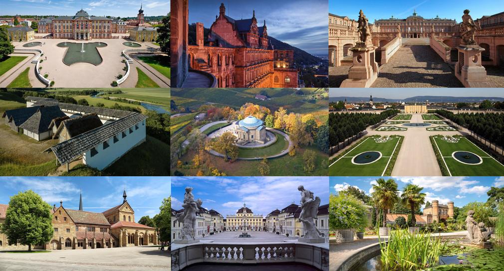 Monumente der Staatlichen Schlösser und Gärten Baden-Württemberg