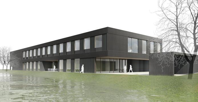 Visualisierung Neubau für die Landesanstalt für Bienenkunde der Universität Hohenheim (Illustration: © Lanz • Schwager Architekten BDA, Konstanz)