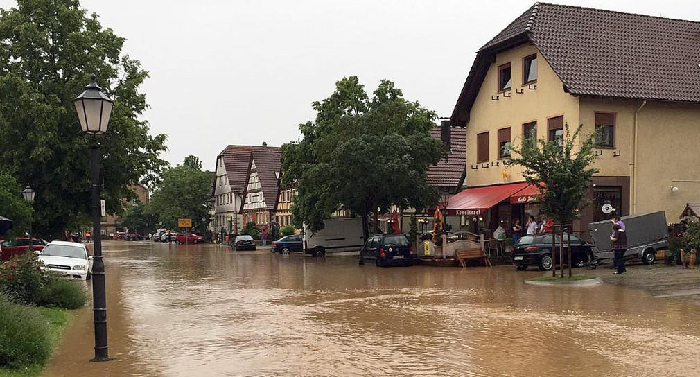 überschwemmung Baden Württemberg