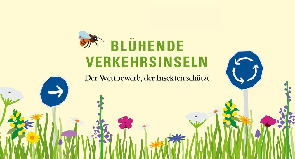 Blühende Verkehrsinseln (Grafik: © Verkehrsministerium Baden-Württemberg)
