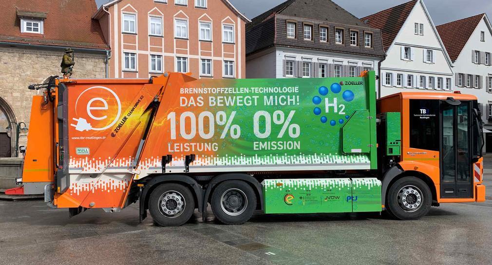 Erstes Brennstoffzellen Müllfahrzeug in Süddeutschland