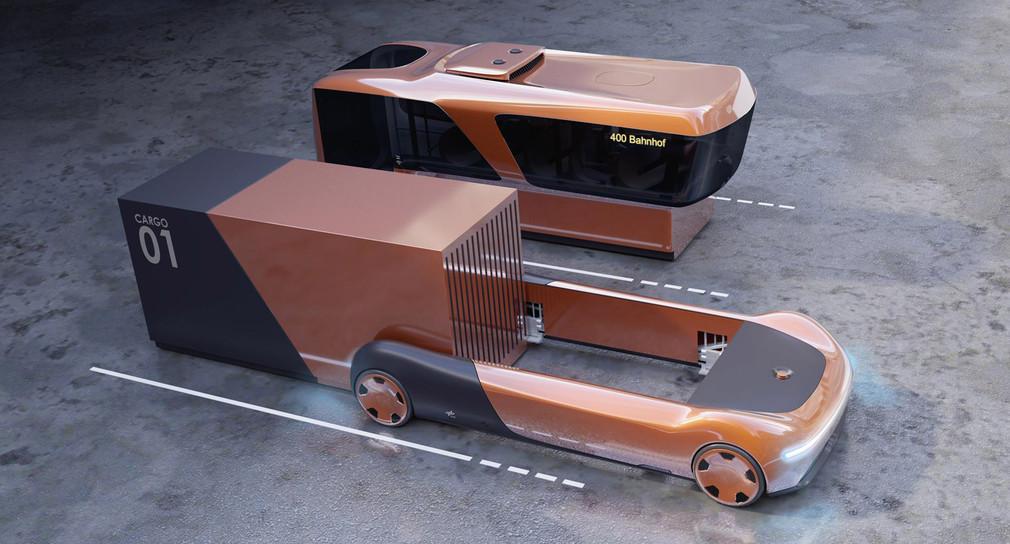 Futuristisches Fahrzeugkonzept U-Shift (Bild: DLR (CC-BY 3.0))