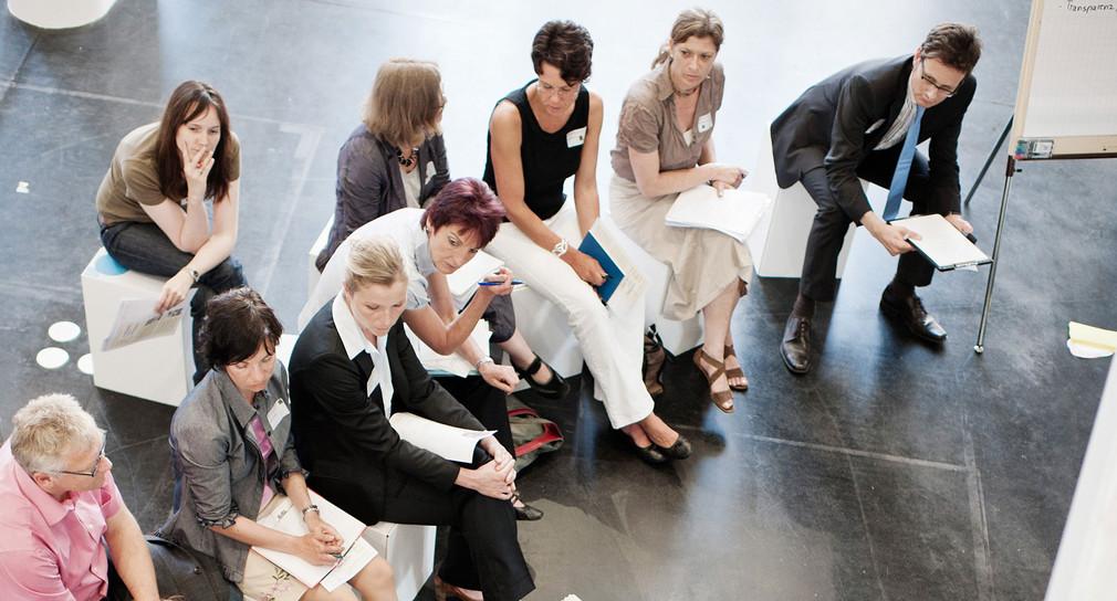 Diskussionen auf dem Kongress für Beteiligung (Bild: © Mario Wezel)