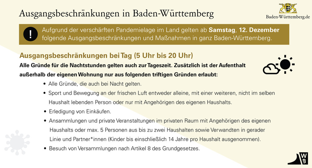 Baden Wurttemberg Erlasst Landesweite Ausgangsbeschrankungen Baden Wurttemberg De
